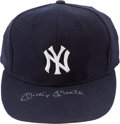 Baseball Collectibles:Others, 1990's Mickey Mantle Signed New York Yankees Cap. ...