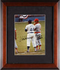 Baseball Collectibles:Photos, 1980's Roger Maris & Hank Aaron Signed Photograph. ...