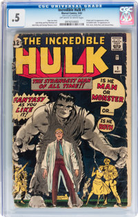 The Incredible Hulk #1 (Marvel, 1962) CGC PR 0.5 Off-white to white pages