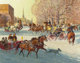ROBERT E. LOUGHEED (American, 1910-1982) A Duryea Wagon Wins the Race, Great Moments in Early American Motoring Oil on...
