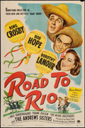 "Movie Posters:Comedy, Road to Rio (Paramount, 1948). One Sheet (27"" X 41""). Comedy.. ..."