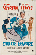 "Movie Posters:Comedy, Sailor Beware (Paramount, 1952). One Sheet (27"" X 41""). Comedy.. ..."