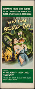 "Movie Posters:Horror, Beast from Haunted Cave (Film Group, 1959). Insert (14"" X 36""). Horror.. ..."