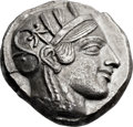 Ancients:Greek, Ancients: ATTICA. Athens. Ca. 465-455 BC. AR tetradrachm (24mm, 16.89 gm, 3h)....