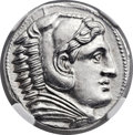 Ancients:Greek, Ancients: MACEDONIAN KINGDOM. Alexander III the Great (336-323 BC).AR tetradrachm (25mm, 17.17 gm, 11h)....