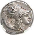 Ancients:Greek, Ancients: LUCANIA. Heracleia. Ca. 330-325 BC. AR stater (20mm, 7.76 gm, 11h)....