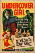 "Movie Posters:Crime, Undercover Girl (Universal International, 1950). One Sheet (27"" X41""). Crime.. ..."