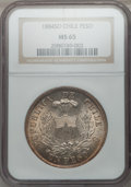 Chile, Chile: Republic Peso 1884-So,...