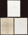 Books:Literature 1900-up, [John Updike]. Group of Three Transcripts of John Updike'sAppearance on the Dick Cavett Show, December 1978. One signed; one...