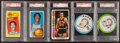 Basketball Cards:Lots, 1970's Topps, Carvel & Buckman's Walt Frazier & BillBradley PSA Group (5). ...
