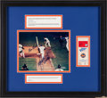 Baseball Collectibles:Tickets, Bill Buckner and Mookie Wilson Multi Signed 1986 W.S. Game 6 TicketStub Display....