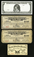 Miscellaneous:Other, World's Columbian Exposition, State of Wisconsin Depression Scrip,and an ABNCo Specimen Note.. ... (Total: 4 items)