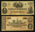 Confederate Notes:1862 Issues, T41 and T67 Bogus Back Notes.. ... (Total: 2 notes)