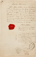 Autographs:Statesmen, Albert Gallatin Document Twice Signed....