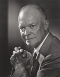 Photographs:20th Century, YOUSUF KARSH (Canadian, 1908-2002). Dwight Eisenhower, circa1955. Gelatin silver, printed later. 13-3/4 x 10-3/4 inches...