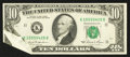 Error Notes:Foldovers, Fr. 2025-K $10 1981 Federal Reserve Note. Extremely Fine.. ...