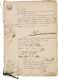 Autographs:Non-American, Napoleon and Josephine Document Signed...