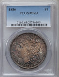 Morgan Dollars: , 1886 $1 MS63 PCGS. PCGS Population (36256/58746). NGC Census:(32702/77891). Mintage: 19,963,886. Numismedia Wsl. Price for...