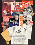 Baseball Collectibles:Others, New York Yankees and Additional Baseball Greats MemorabiliaCollection - With Jackson 3 HR W.S. Ticket....