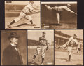Baseball Cards:Lots, 1909-12 M101-2 Sporting News Supplements (5) - All ChicagoHoFers....