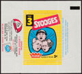 Non-Sport Cards:Singles (Post-1950), Scarce 1959 Fleer Three Stooges 5-Cent Wax Pack Wrapper. ...