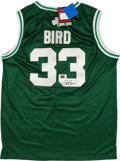 Basketball Collectibles:Uniforms, Larry Bird Signed Boston Celtics Jersey....