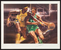 Basketball Collectibles:Others, Wilt Chamberlain and John Havlicek Signed Lithograph....