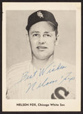 Autographs:Sports Cards, Signed 1958-1965 Jay Publishing Nellie Fox Picture. ...