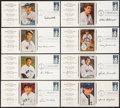 Autographs:Others, Signed 1983 50th Anniversary All-Star Game FDC Group (9). ...