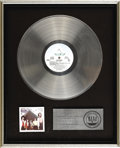 "Music Memorabilia:Awards, Air Supply ""Lost In Love"" Platinum Album Award...."