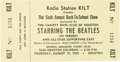 Music Memorabilia:Tickets, Beatles Sam Houston Coliseum Concert Ticket....