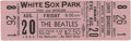 Music Memorabilia:Tickets, Beatles White Sox Park Concert Ticket....