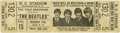 Music Memorabilia:Tickets, Beatles Unused D.C. Stadium Concert Ticket....