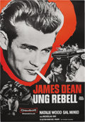 "Movie/TV Memorabilia:Posters, ""Rebel Without a Cause"" (Warner Brothers, R-1970s)...."