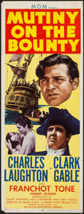 "Movie Posters:Academy Award Winners, Mutiny on the Bounty (MGM, R-1957). Insert (14"" X 36""). AcademyAward Winners.. ..."