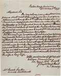 "Autographs:U.S. Presidents, Zachary Taylor. Autograph Letter Signed, ""Z. Taylor"", as President-elect, to Frank Leathe, Baton Rouge, Louisiana, Dec. 15, ..."