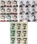Movie/TV Memorabilia:Original Art, Set of James Dean Spray-Painted Paintings....