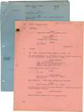 Movie/TV Memorabilia:Autographs and Signed Items, Sal Mineo Signed Script Pages....