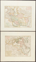 Books:Maps & Atlases, Isaac Tirion (1705-1769), cartographer. Four Hand-Colored Maps of the Turkish Empire. Amsterdam: [ca. 1730s]. ... (Total: 4 Items)