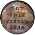 Netherlands East Indies: , Netherlands East Indies: Colonial bronzed-copper Proof PatternPenny 1835,...