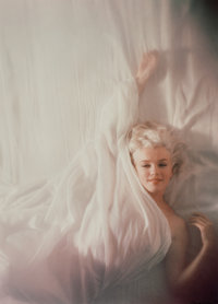 DOUGLAS KIRKLAND (Canadian, b. 1934) Marilyn, from Under the Sheets, 1961 Chromogenic 19-1/2 x 14