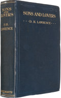 Books:Literature 1900-up, D. H. Lawrence. Sons and Lovers. London: Duckworth &Co., 1913. First edition, early issue....