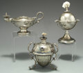 Silver Smalls:Cigar Lamps, A GROUP OF THREE ENGLISH SILVER CIGAR LAMPS, Various makers, circa1900. Marks: (various maker's marks), STERLING. 3-3/4...(Total: 3 Items)