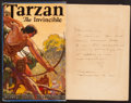 Books:Science Fiction & Fantasy, Edgar Rice Burroughs. Tarzan the Invincible. Burroughs, 1931. First edition. Inscribed by ERB to his brother. ...