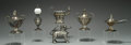 Silver Smalls:Cigar Lamps, A GROUP OF SIX SILVER-PLATED AND OTHER METALS CIGAR LAMPS, Variousmakers, circa 1900. Marks: (various maker's marks). 4-1/2...(Total: 6 Items)