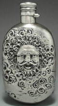 Silver Holloware, American:Flasks, AN AMERICAN SILVER FLASK, Gorham Manufacturing Co., Providence,Rhode Island, 1883. Marks: (lion-anchor-G), STERLING, P...