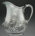 Silver & Vertu:Hollowware, AN AMERICAN SILVER REPOUSSÉ WATER PITCHER, George W. Shiebler & Co., New York, New York, circa 1890. Marks: (winged S), ST...