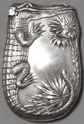 Silver Smalls:Match Safes, AN AMERICAN SILVER FIGURAL MATCH SAFE, George W. Shiebler &Co., New York, New York, circa 1890. Marks: (winged S),STERLI...