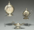 Silver Smalls:Cigar Lamps, A GROUP OF THREE ENGLISH SILVER CIGAR LAMPS, Various makers, circa1900. Marks: BLACK, STARR & FROST, 1406, 6, STERLING; H...(Total: 3 Items)