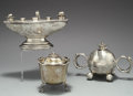 Silver Smalls:Cigar Lamps, A GROUP OF THREE ENGLISH SILVER CIGAR LAMPS, . Various makers,circa 1900. Marks: MW, (crown), (lion passant), M,... (Total: 3 Items)